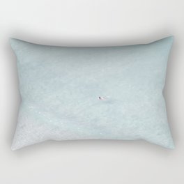 beach - the swimmer Rectangular Pillow