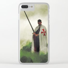 The Knight Templar Clear iPhone Case