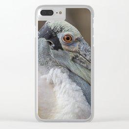 Roseate Spoonbill Portrait I Clear iPhone Case