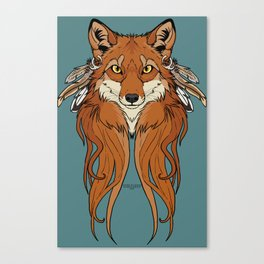 Tribal Fox Canvas Print
