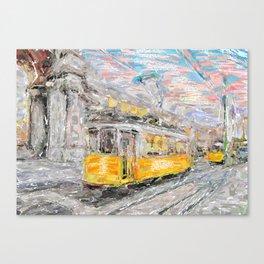 Lisbon trams Canvas Print