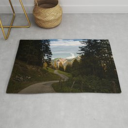 through the woods and over the mountains Rug
