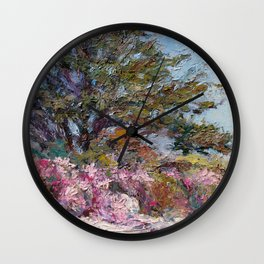 In The Pink — Point Lobos, Carmel, California Wall Clock
