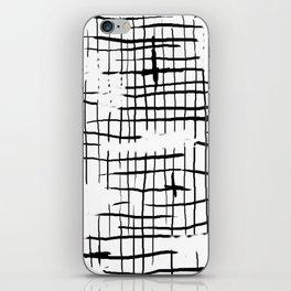 damaged grid iPhone Skin
