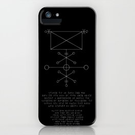 Exorcism Stave iPhone Case