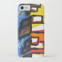 depression iPhone & iPod Cases featuring Depression Begins by Greg Mason Burns