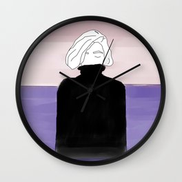 in the water Wall Clock