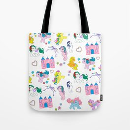 g1 my little pony pattern Tote Bag
