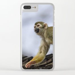 Monkey on the Roof Clear iPhone Case
