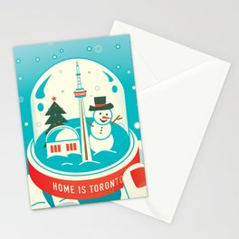 Frosty Dancing in Toronto Art Illustration Stationery Cards
