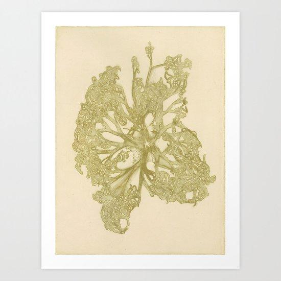 delicate starfish Art Print