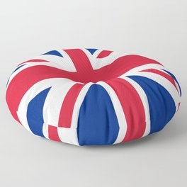 red white and blue trendy london fashion UK flag union jack Floor Pillow