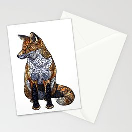 Stained Glass Fox Stationery Cards