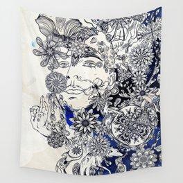 Moonlight Fountain Wall Tapestry