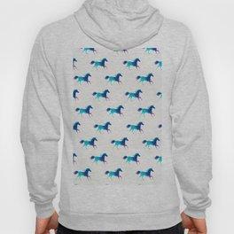 blue horse pattern Hoody