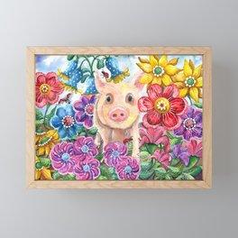 Penelope Pig Framed Mini Art Print