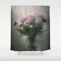peonies Shower Curtains featuring Peonies by Pauline Fowler ( Polly470 )