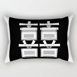 NO.5 DOUBLE HAPPINESS IN B/W Rectangular Pillow
