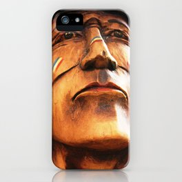 Wooden Native American Indian iPhone Case