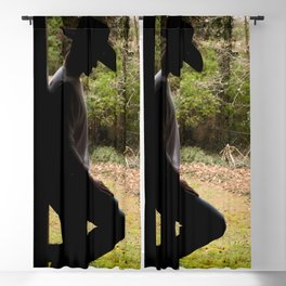 Cowboy standing in a doorway Blackout Curtain