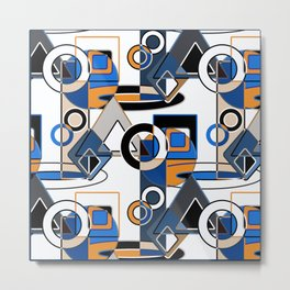 Abstract pattern with bold geometric shapes . Metal Print