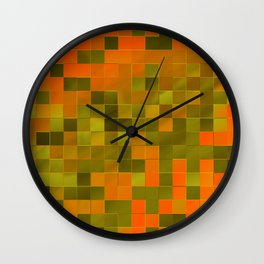 little colored squares -2- Wall Clock