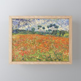 Poppy Field by Vincent van Gogh, 1890 painting Framed Mini Art Print