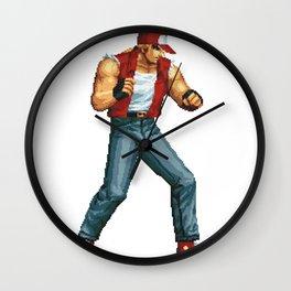 Terry Bogard pixel art Retrogaming Wall Clock