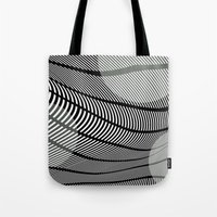 mid century Tote Bags featuring Mid-Century Mod by Patti Toth McCormick
