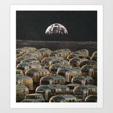 Lunar Campsite Art Print