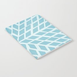 Light blue, diamond, mosaic pattern. Moroccan tile. Notebook