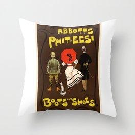 Belle Epoque vintage poster, Abbotts-Phit-Eesi Throw Pillow
