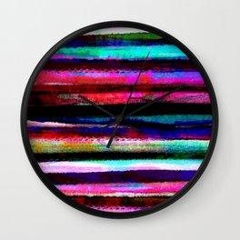 bohemian colorful pattern Wall Clock