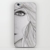 emma stone iPhone & iPod Skins featuring Emma Stone Drawing by Olivia Scotton