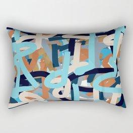 layered paint lines art Rectangular Pillow