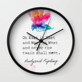 Rudyard Kipling Oh East is East and West is West Wall Clock