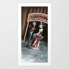 Raven & Ria, Ringmaster & Ringmistress Art Print