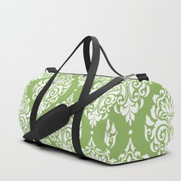 Green Damask Duffle Bag