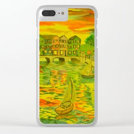 HarborSide Oil Painting Clear iPhone Case