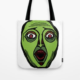 Fright Face (transparent) Tote Bag