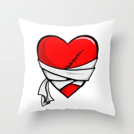 Recovery Heart Throw Pillow