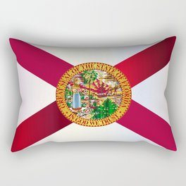 Florida State Metal Flag Rectangular Pillow