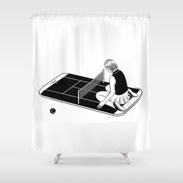 Love is a losing game Shower Curtain