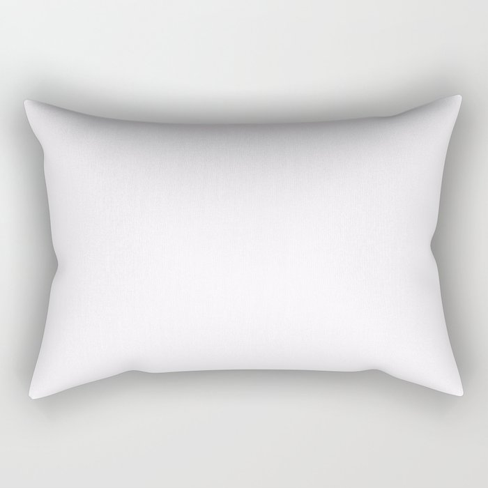 Pale Wisteria White 2018 Fall Winter Color Trends Rectangular Pillow