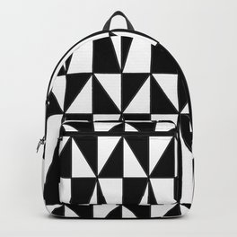 Black And White Triangles Backpack
