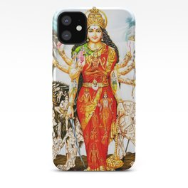 Hindu Durga 3 iPhone Case