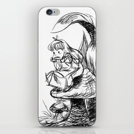 Pouty Alice  - Ink Sketch iPhone Skin