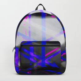 Electric Blue Pink Zig Zag Abstract Backpack