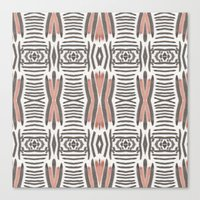 ikat Canvas Prints featuring Ikat  by bunglo by shay spaniola