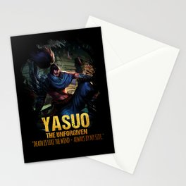 League of Legends YASUO - The Unforgiven - video games champion Stationery Cards